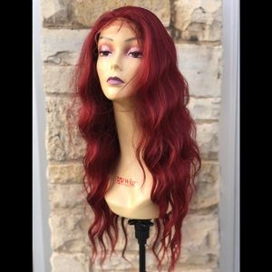 Accessories - Full Lace wig Wine Red Beach waves 2020 wine color